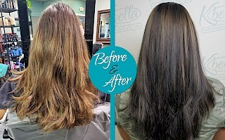 Haircut & Color - Before & After by Siobhan